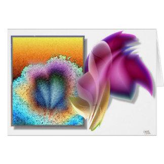 Three Blooms. (card) Card