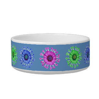 Three Blue Bell Tunicate Flowers in colors Bowl