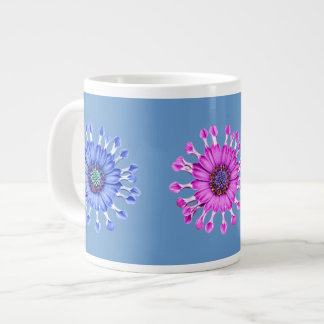 Three Blue Bell Tunicate Flowers in colors Large Coffee Mug