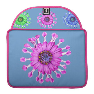 Three Blue Bell Tunicate Flowers in colors MacBook Pro Sleeve