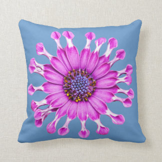 Three Blue Bell Tunicate Flowers in colors Throw Pillow