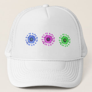 Three Blue Bell Tunicate Flowers in colors Trucker Hat