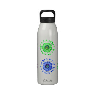 Three Blue Bell Tunicate flowers with colors Reusable Water Bottles