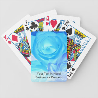 Three blue roses inverted picture bicycle playing cards