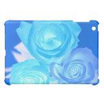 Three blue roses inverted picture iPad mini cases
