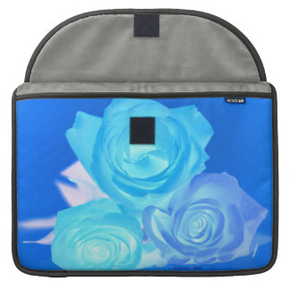 Three blue roses inverted picture MacBook pro sleeve