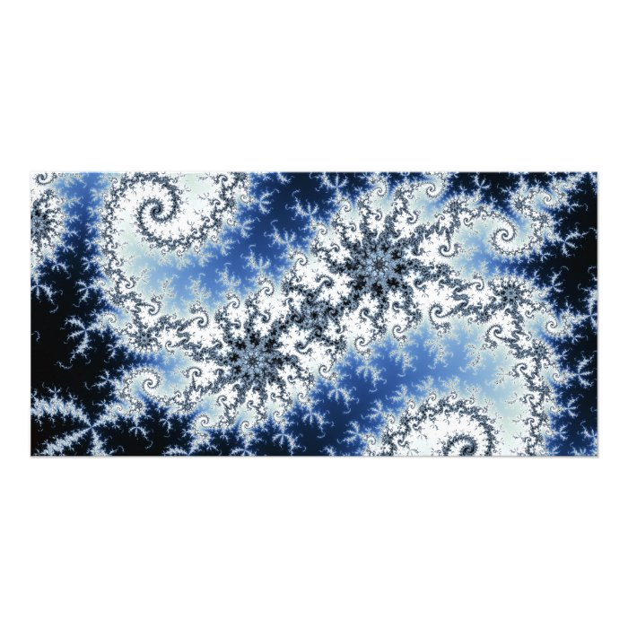 Three Blue Stars - fractal design Card