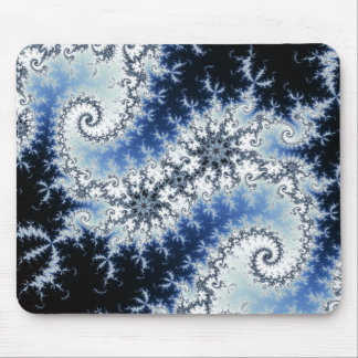 Three Blue Stars - fractal design Mouse Pad