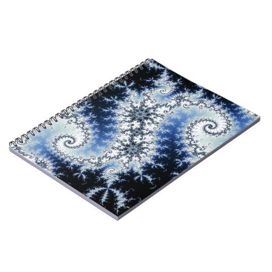 Three Blue Stars - fractal design Notebook
