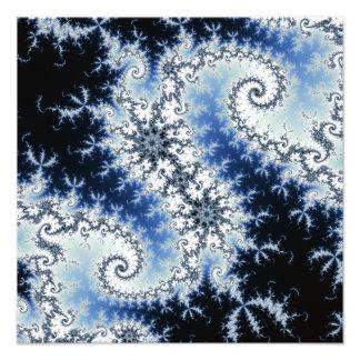 Three Blue Stars - fractal design Photo Print