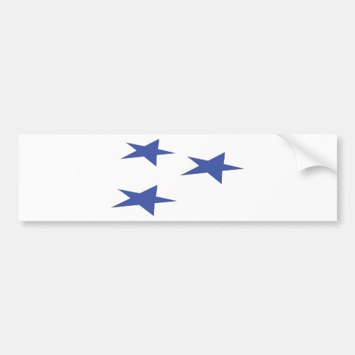 three blue stars icon bumper sticker