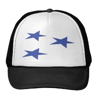three blue stars icon trucker hat