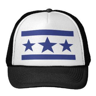 three blue stars trucker hat