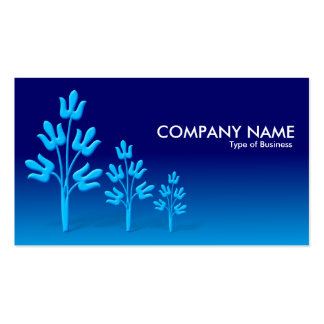 Three Blue Trees - Night and Day Business Card Template