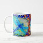 "Three Blue ""Zinger"" dragonflies Classic White Coffee Mug"