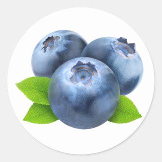 Three blueberries classic round sticker