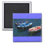 Three Boats 2 Inch Square Magnet