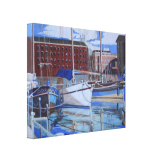 Three boats at Gloucester Docks England. Canvas Print