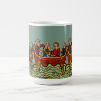 Three boats on the river V Coffee Mug