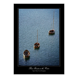 Three Boats on the Water gallery-print poster