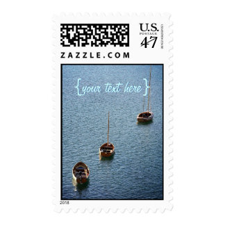 Three Boats on the Water Postage