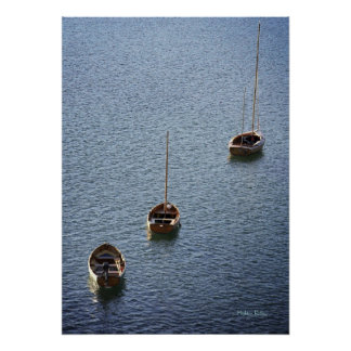 Three Boats on the Water Poster