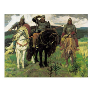 Three Bogatyrs (1898) by Viktor Vasnetsov Print Postcard