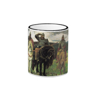 Three Bogatyrs (1898) by Viktor Vasnetsov Print Ringer Coffee Mug