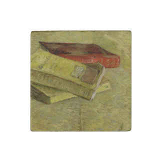 Three Books by Vincent Van Gogh Stone Magnet