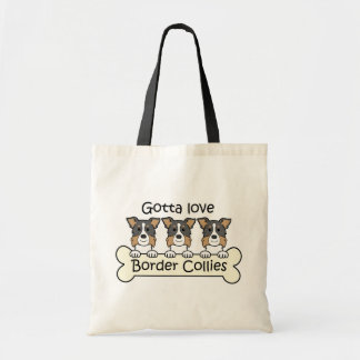 Three Border Collies Budget Tote Bag