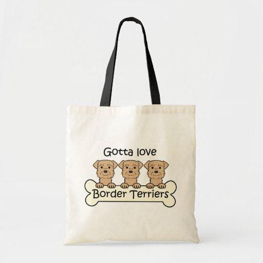 Three Border Terriers Budget Tote Bag