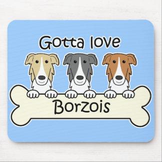 Three Borzois Mouse Pad