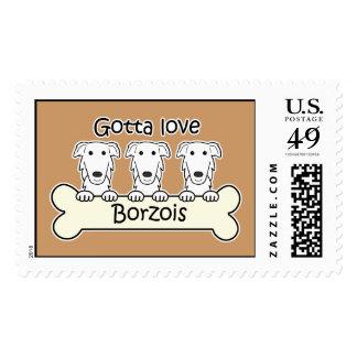 Three Borzois Postage