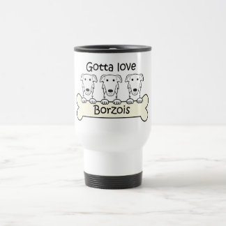 Three Borzois Travel Mug