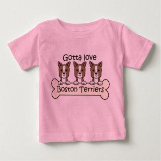 Three Boston Terriers Baby T-Shirt