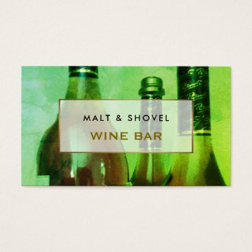 thebusinesscardstore Three Bottle Display, Retro Wine Bar Business Card