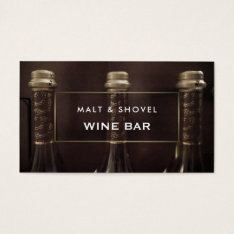 Three Bottle Display, Rustic Wine Bar Business Card at Zazzle