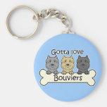 Three Bouviers Keychains