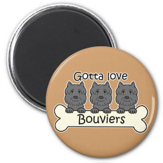 Three Bouviers Magnet