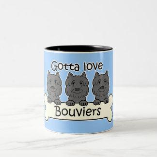 Three Bouviers Two-Tone Coffee Mug