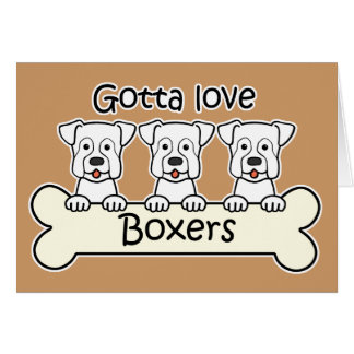 Three Boxers Card