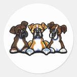 Three Boxers Classic Round Sticker