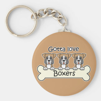 Three Boxers Keychain