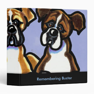 Three Boxers Personalized Memory Album Binder