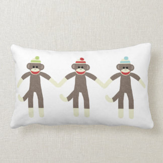 Three Boy Sock Monkeys Pillow
