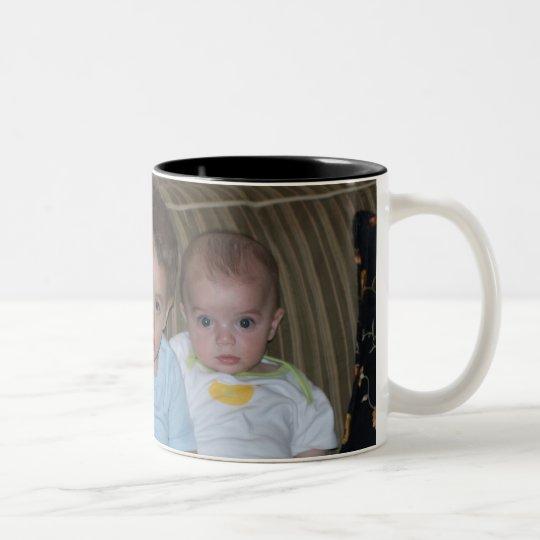 Three Boys Two-Tone Coffee Mug