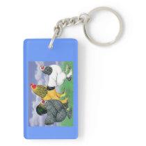 Three Brahmas Keychain