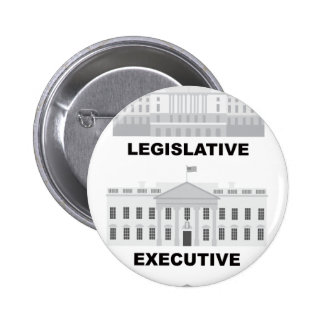 Three Branches of US Government Illustration Pinback Button
