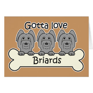 Three Briards Stationery Note Card