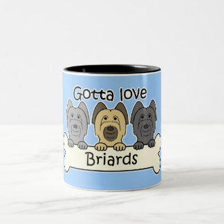 Three Briards Two-Tone Coffee Mug